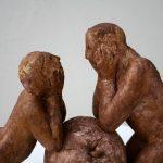 Eva u. Adam I 2017 I Terracotta bemalt I Höhe 20 cm