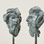 Faunpaar I 2008 I Bronze I Höhe 34 cm