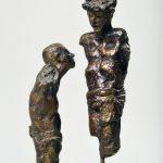 Geschundener / Christus mit Dornenkrone I 1996 I Bronze I Höhe 21/27 cm