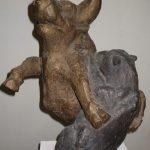 Bulle u. Bär I 1997 I Bronze I Höhe 45 cm
