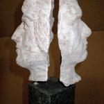 Haf, Doppelportrait I 2013 I Terracotta I Höhe 20 cm