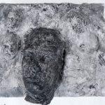 Fragmentrelief I 2013 I Stuckgips bemalt I Länge 25 cm