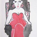 Carmen im Stuhl I 2008 I Filzstift I 20 x 15 cm
