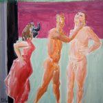 Carmen - Versuchung I 2007 I Mischtechnik I 27 x 25 cm