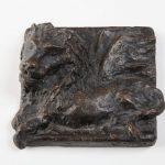 Venezianischer Löwe, Relief I 1996 I Bronze I Länge 12 cm