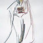 Papst Clemens I 2005 I Pastell-Ölkreide I 40 x 30 cm