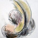 Abstrakt Form I 2009 I Pastell-Ölkreide I 17x 13 cm