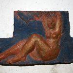 Gaia 1, Relief I 2001 I Terracotta bemalt I Länge 20 cm