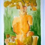Gaia -gelb I 2010 I Mischtechnik I 30 x 20 cm