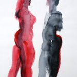 Paar I 2003 I Aquarell I 40 x 30 cm