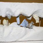 Aquarium I 2014 I Stuckgips, Terracotta bemalt I Höhe 30 cm