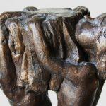 DETAIL: Taufkerzenhalter Modell I 1997 I Bronze I Höhe 20 cm