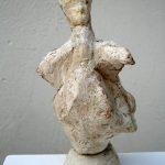Tanzender Papst I 2005 I Stuckgips I Höhe 25 cm